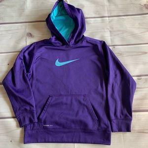 Girls Nike Purple Therma-Fit Hoodie Large